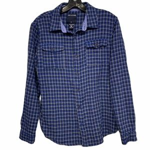 True Religion Women's Sz XL Western Plaid Flannel